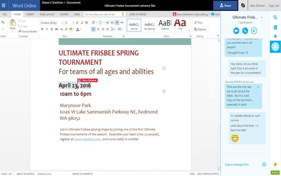 Microsoft интегрира Skype в Office Online 4