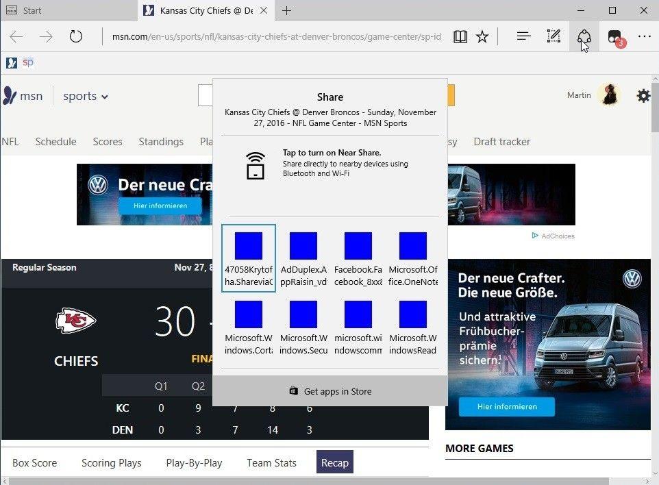 В Windows 10 Creators Update идва нова функция за споделяне 4