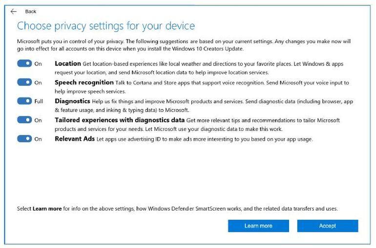 Майкрософт дава повече детайли относно събираната информация чрез телеметрията 4