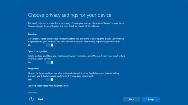 Windows 10 Creators Update вече е тук. Идва с диалог относно поверителността при инсталация 4