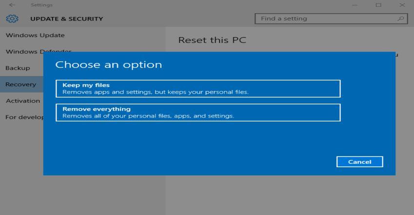 Windows 10: Ето как да върнем Windows към фабричните му настройки без преинсталация 14