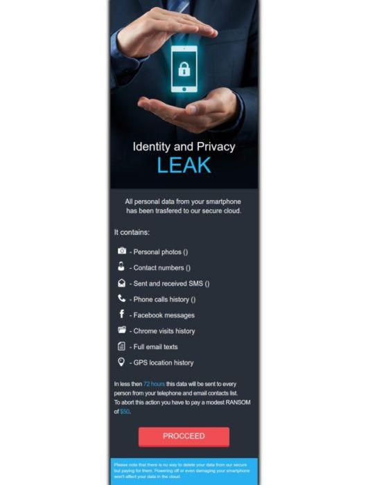 LeakerLocker малуерът за Android заплашва потребителите, че ще изложи данните им на показ 4