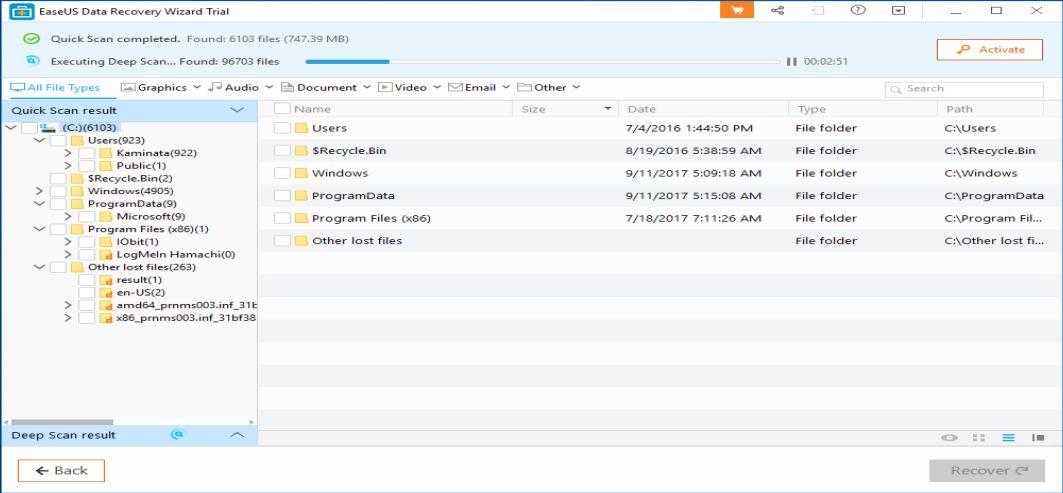 EaseUS подобряват още повече Data Recovery Wizard Professional 11