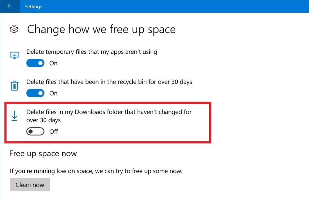 В Windows 10 Redstone 3 идва опция за почистване на файлове 4