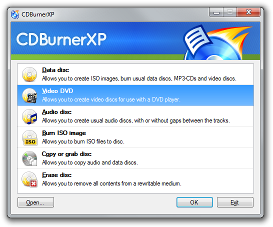 CDBurnerXP 4.5.8.7042 Final download - запис на CD/DVD 2