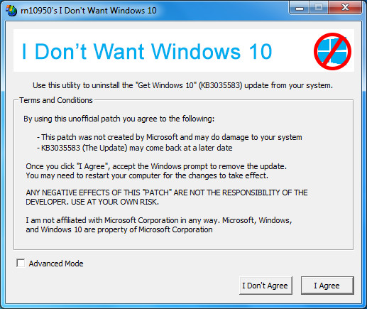 I Don't Want Windows