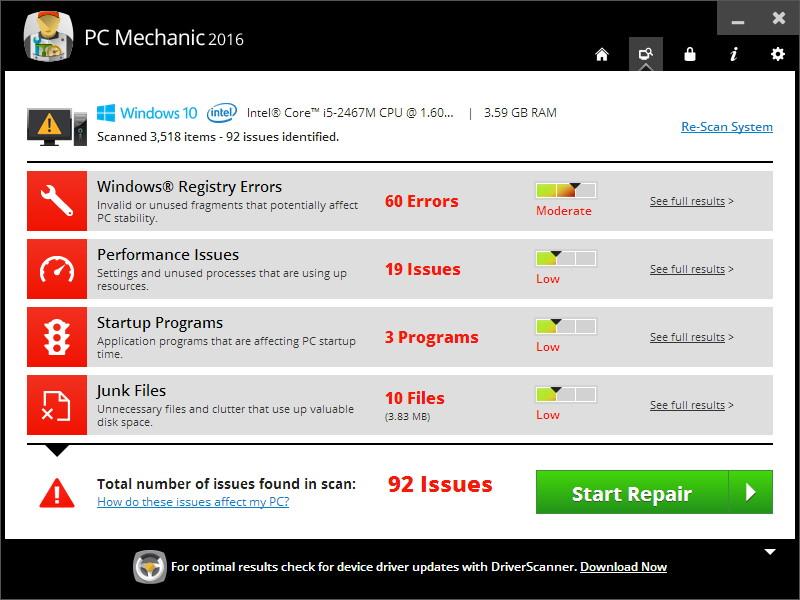 PC Mechanic 2016 1.0.18.4 download 2